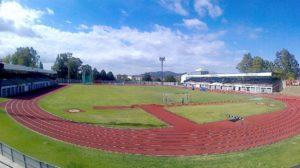 """Estadio Municipal """"Francisco Gil Valle""""  (a pie de campo)"""