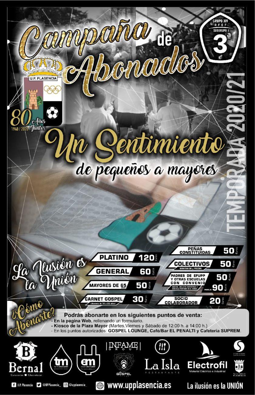 """Pincha en la imagen y hazte Socio """" Campaña de abonados UPP 2020/21″"""
